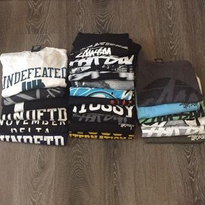 Stussy & Undefeated Tees